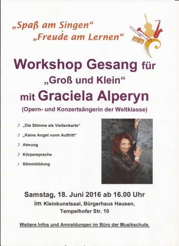 Workshop Musikschule